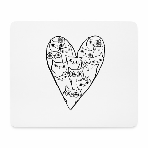 I Love Cats - Mouse Pad (horizontal)