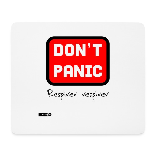 don't panic, respirer - Tapis de souris (format paysage)
