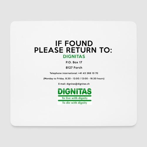 Dignitas - If found please return joke design - Mouse Pad (horizontal)
