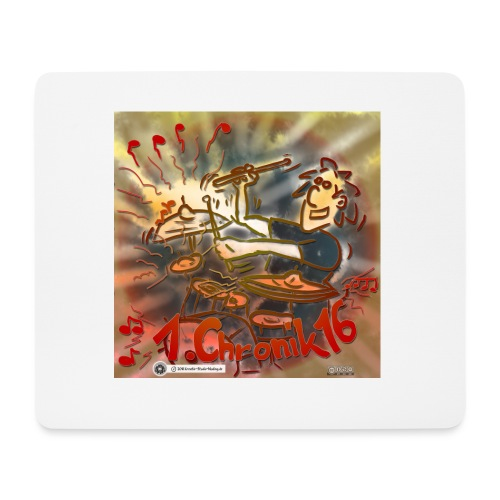Design Drums 1. Chronik 16 - Mousepad (Querformat)