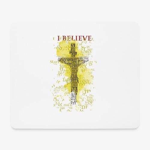 I believe / wierzę (yellow-żółty) - Podkładka pod myszkę (orientacja pozioma)