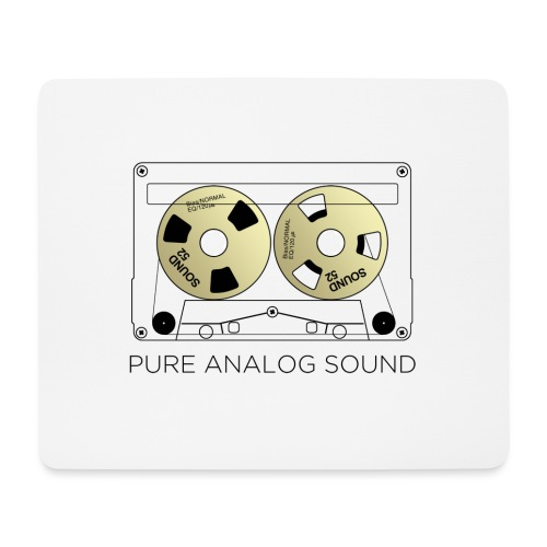 Reel gold cassette white - Mouse Pad (horizontal)