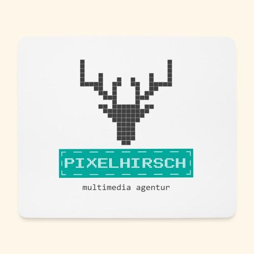 PIXELHIRSCH - Logo - Mousepad (Querformat)
