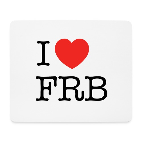 I Love FRB - Workwear - Mousepad (bredformat)