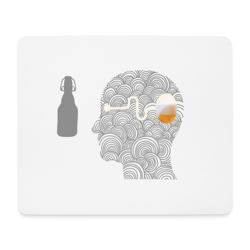 WYSIWYG Beer Shirt - Mousepad (Querformat)