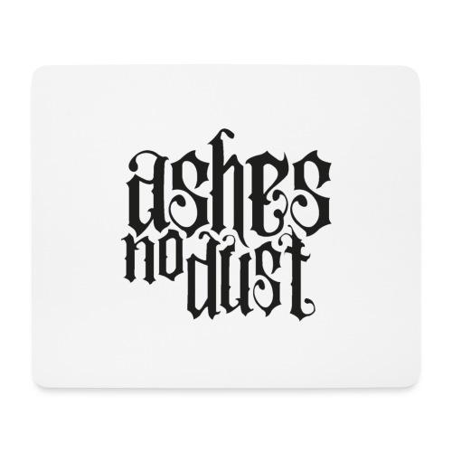 Black logo Ashes No Dust - Tapis de souris (format paysage)