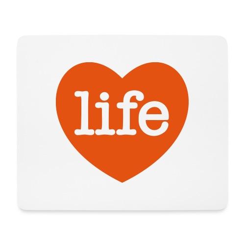 LOVE LIFE heart - Mouse Pad (horizontal)