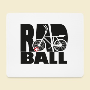 Radball | Typo Black - Mousepad (Querformat)