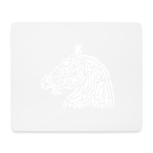 horse - cheval blanc - Tapis de souris (format paysage)