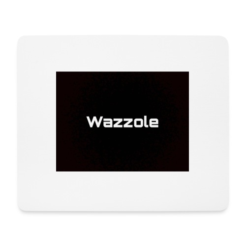 Wazzole plain blk back - Mouse Pad (horizontal)