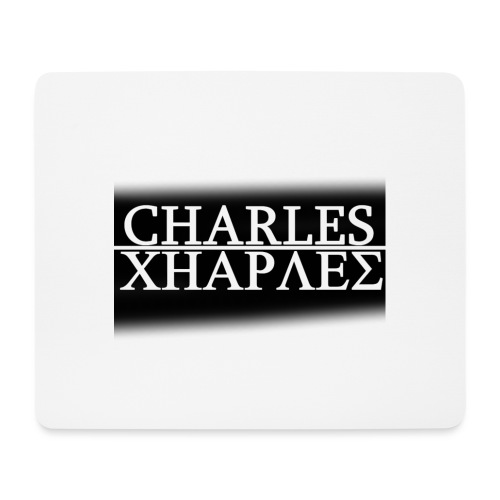 CHARLES CHARLES BLACK AND WHITE - Mouse Pad (horizontal)