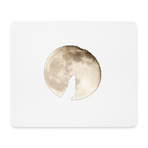 The wolf with the moon - Tapis de souris (format paysage)