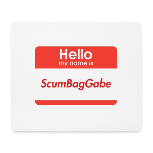 Hello My Name Is ScumBagGabe - Mouse Pad (horizontal)