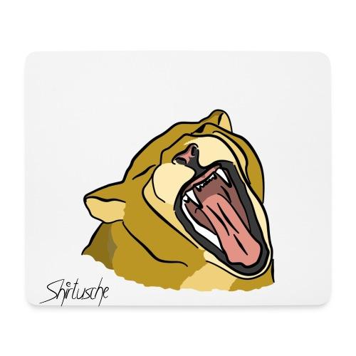 Gähnender / brüllender Löwe - Mousepad (Querformat)