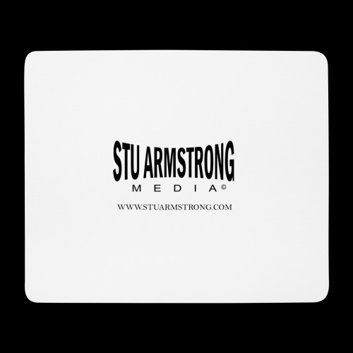 Stu Armstrong Media Black Logo - Mouse Pad (horizontal)
