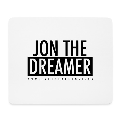 JON THE DREAMER LOGO - WHITE - Mouse Pad (horizontal)
