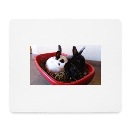 Warme Sachen mit dem Hasenlogo - Mousepad (Querformat)