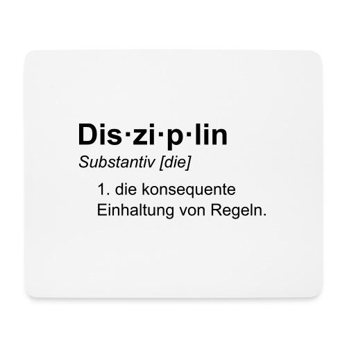 Disziplin Tasse - Mousepad (Querformat)