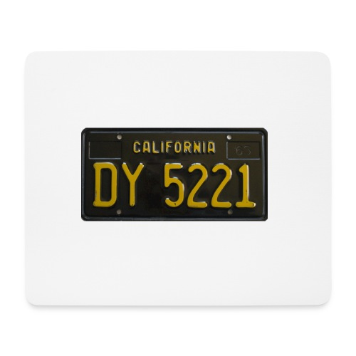 CALIFORNIA BLACK LICENCE PLATE - Mouse Pad (horizontal)