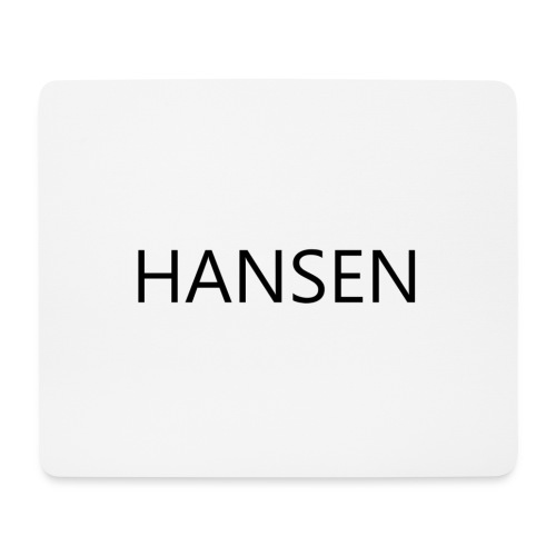 HANSENLOGO hvid - Mousepad (bredformat)