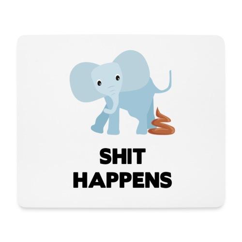 olifant met drol shit happens poep schaamte - Muismatje (landscape)