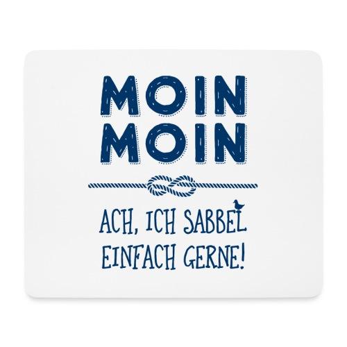 Moin Kapitän maritimer Schnack - Mousepad (Querformat)