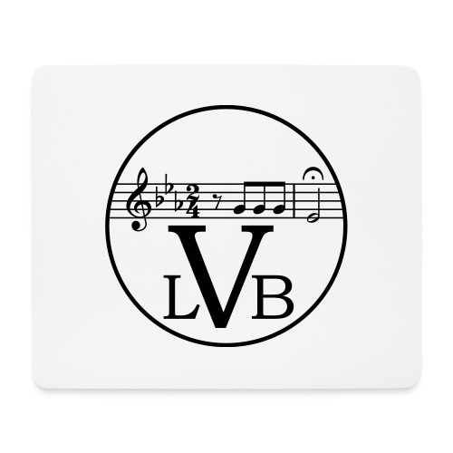Beethoven Logo 1c - Mousepad (Querformat)