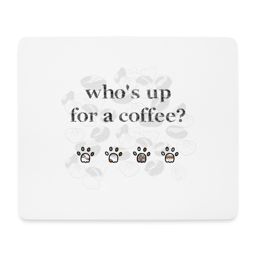 Coffee and Cat addict! - Tapis de souris (format paysage)