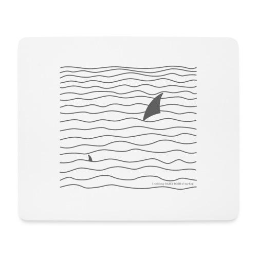 Windsurfer & Shark (black) - Mousepad (Querformat)