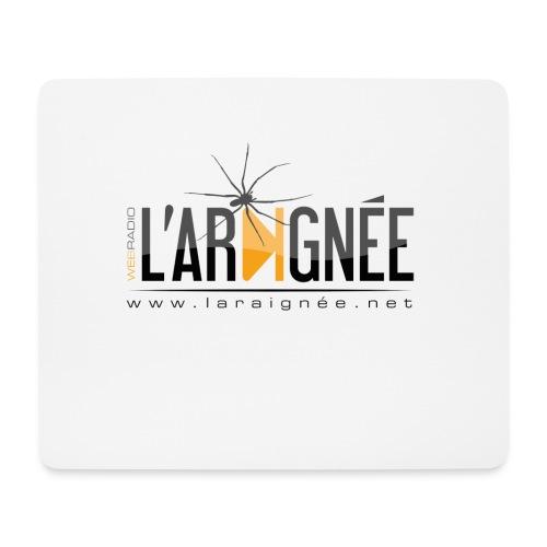 L'ARAIGNÉE, logo noir - Tapis de souris (format paysage)