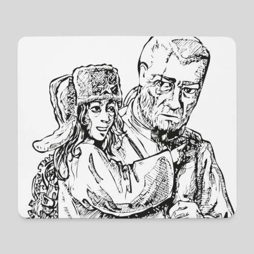 Boris und Olga SW - Mousepad (Querformat)