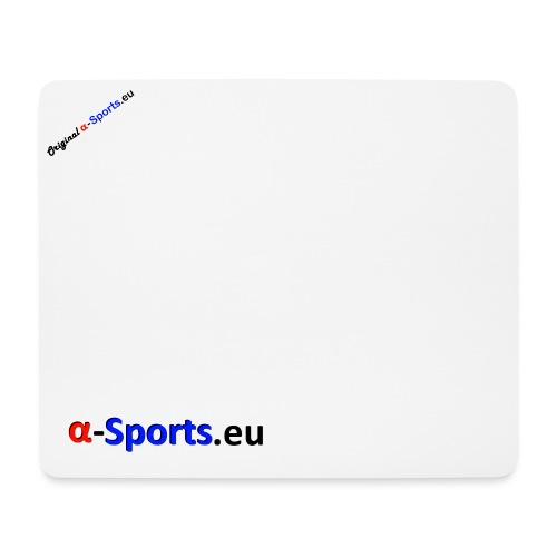 origalphaschwarz png - Mousepad (Querformat)