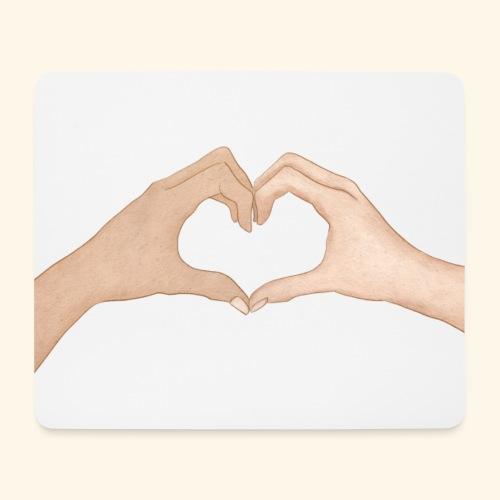 Mains Coeur Amour - Love hands - Tapis de souris (format paysage)