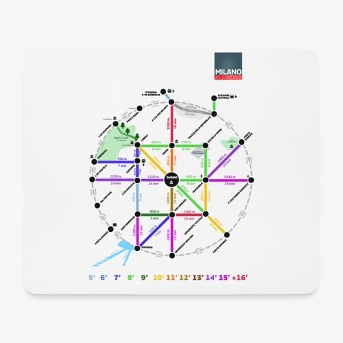 MetroMinuto Milano - Tappetino per mouse (orizzontale)