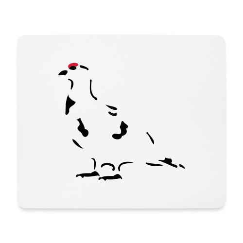 Schneehuhn - Mousepad (Querformat)