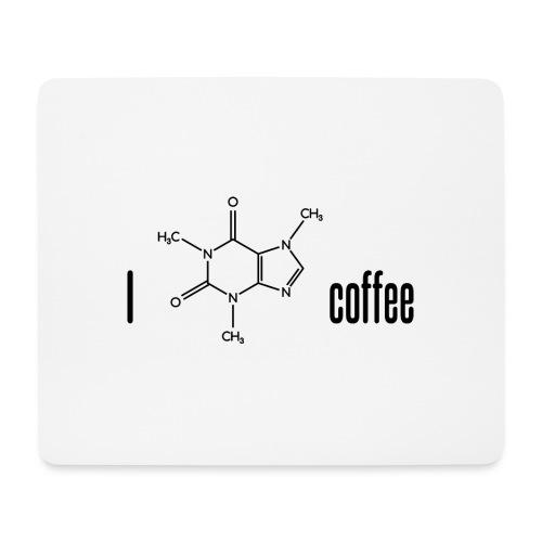 Ich liebe Kaffee - mit Koffein-Molekül - Mousepad (Querformat)