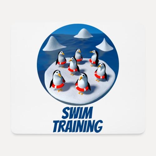 Pinguine beim Schwimmunterricht - Mouse Pad (horizontal)