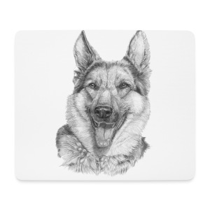 Schæfer German shepherd - Mousepad (bredformat)