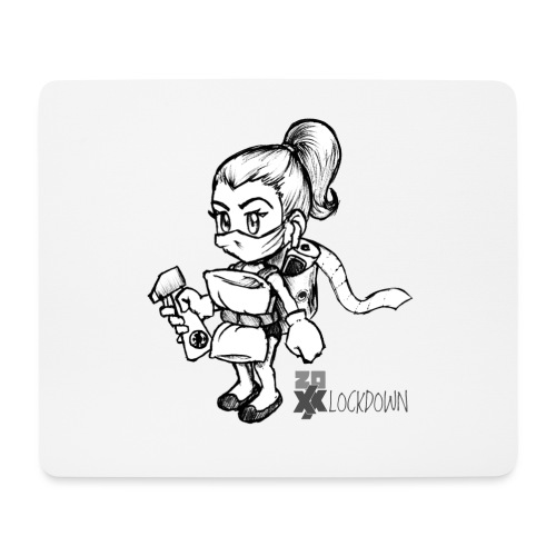 2020 Lockdown Dudette - Mouse Pad (horizontal)