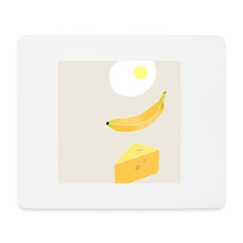 Egg Banana Cheese - Mouse Pad (horizontal)
