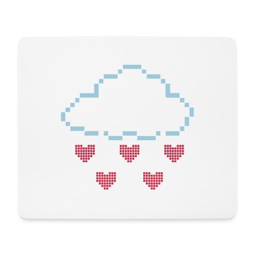 Wolke Pixelherz - Mousepad (Querformat)