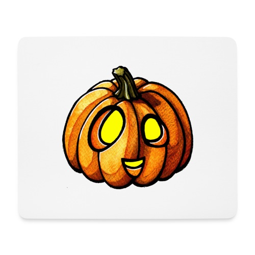 Pumpkin Halloween watercolor scribblesirii - Mousepad (Querformat)