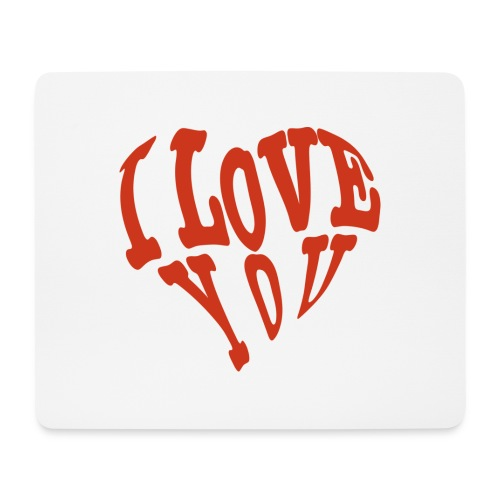 I lOVE YOU - Mousepad (Querformat)