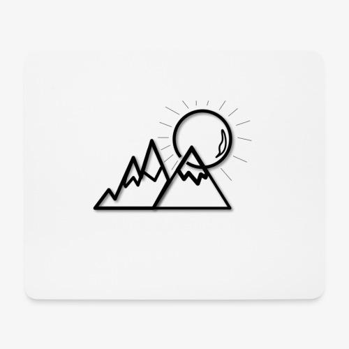 logo montagne - Tapis de souris (format paysage)
