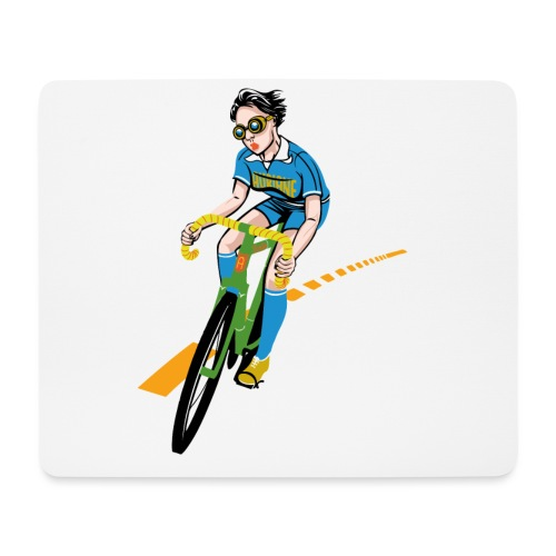 The Bicycle Girl - Mousepad (Querformat)
