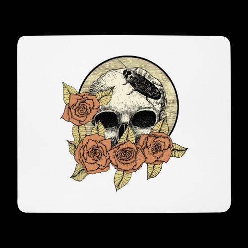 Rose et tête de mort - Tapis de souris (format paysage)