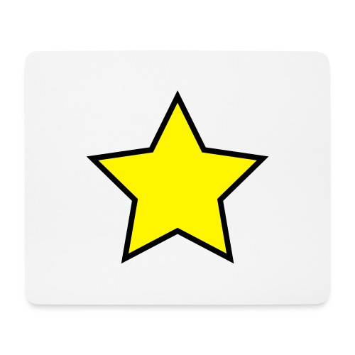 Star - Stjerne - Mouse Pad (horizontal)