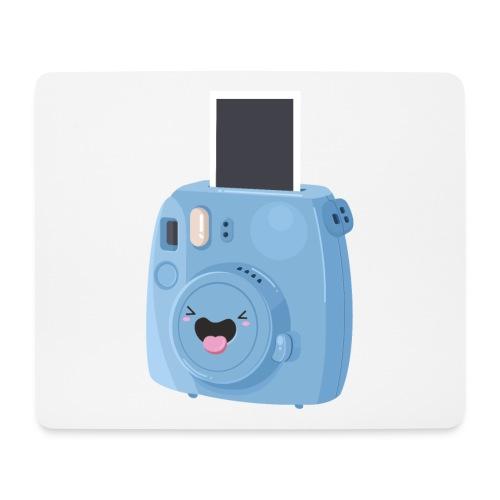 Appareil photo instantané bleu - Tapis de souris (format paysage)