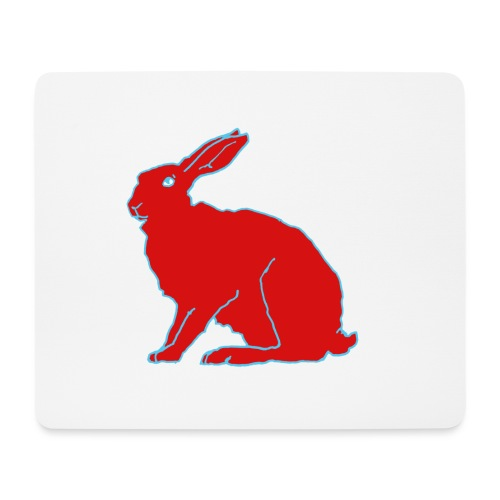 Roter Hase - Mousepad (Querformat)