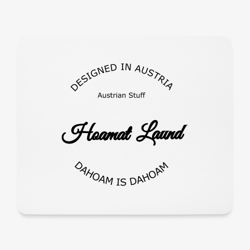 hoamatlaund mit bissl an text - Mousepad (Querformat)